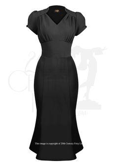 1940s Victory Evening Dress - black