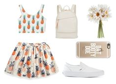 """""""Pineapple """" by xxminnervaxx ❤ liked on Polyvore featuring Want Les Essentiels de la Vie, Casetify, Vans, women's clothing, women, female, woman, misses and juniors"""