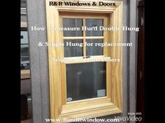 This Video Teaches You How To Measure A Hurd Double Hung Or Single So Can Order Replacement Screens And Jamb Liners