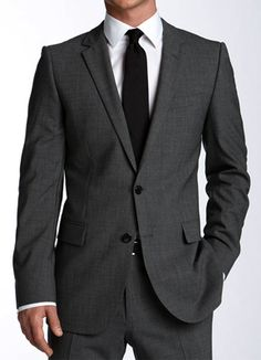 Very dark grey for the groomsmen... Actually want this for all the guys with different colored ties...