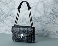 Baraboux creates luxury bags that meet the dynamic lifestyle of today's woman, from clutch and tote to shoulder bags, all with highest quality exotic skins. One Bag, Luxury Bags, Ss16, Exotic, Shoulder Bag, Handbags, Denim, Women, Totes
