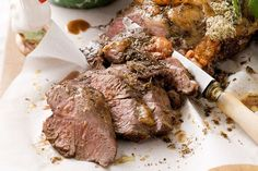 Barbecued Greek-style lamb with mint yoghurt
