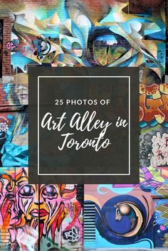 Art Alley, located in Toronto Canada is a great place to explore in Ontario. Stretching over multiple blocks, the walls filled with murals are all different and some very detailed. A must visit in Toronto.