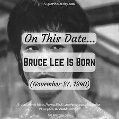 On This Date: Bruce Lee Is Born (November 27, 1940) On This Date, Bruce Lee, November, Dating, Ads, Twitter, Movie Posters, November Born, Quotes