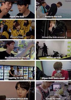 Jin plays the most important role jn bangtan, him being everyone's mother. Pink princess Jin!!