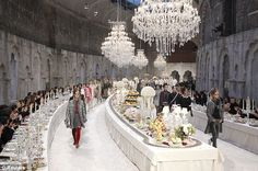 From Bombay to Paris: Chanel stages Indian-inspired fashion show as guests dine on opulent 'runway' feast fit for royalty - Tribute: The Metiers d'Art show was launched in 2003 as a homage to the French label's workshop - Karl Lagerfeld, Chanel Runway, Chanel Paris, Coco Chanel, Indian Inspired Fashion, Trendy Fashion, Runway Fashion, Couture Fashion, Party Fashion