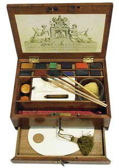 Ackerman & Co., Mahogany Watercolour Box, c1830-1840 I'm sure I could paint like Beatrix Potter if I had this ;-)
