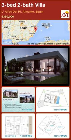 3-bed 2-bath Villa in L' Alfas Del Pi, Alicante, Spain ►€350,000 #PropertyForSaleInSpain