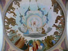 Gebhard Fugel (1863–1939) Kath. Pfarrkirche St. Martinus, Hauerz, Stadt Bad Wurzach Deckengemälde von Gebhard Fugel über der Vierung, 1921