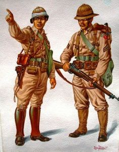 Pictures of soldiers in the Philippines during WWII by Filipino artist Daniel Dizon