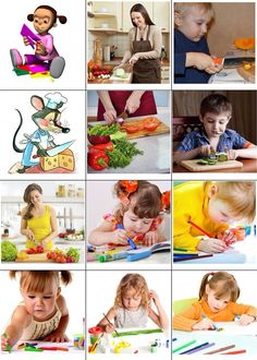 Кто что делает Sequencing Pictures, Action Cards, Oral Motor, Preschool At Home, Teaching Materials, Educational Activities, Speech Therapy, Card Games, Literacy