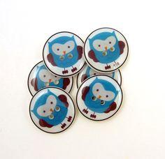 Handmade owl buttons