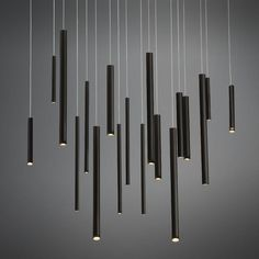 A linear led chandelier from the Santana collection- Eurofase Spa Lighting, Interior Lighting, Modern Lighting, Lighting Design, Pendant Chandelier, Pendant Lighting, Ceiling Lamp, Ceiling Lights, Contemporary Chandelier