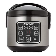 Enjoy easy home cooking with the Aroma Housewares (Cooked) Digital Cool-Touch Rice Cooker and Food Steamer, Stainless Steel. The Steam Tray allows for healthy steaming of meats and vegetables, even as rice cooks below. Small Rice Cooker, Best Rice Cooker, Slow Cooker, Aroma Rice Cooker, Rice Cooker Steamer, Specialty Appliances, Small Appliances, Kitchen Appliances, Kitchen Gadgets