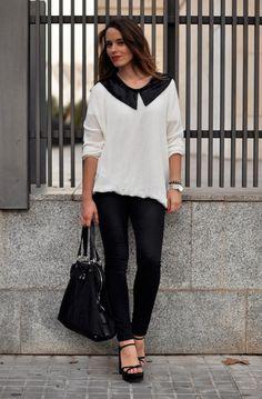 #fashion #fashionista Macarena bianco nero * macarena gea *: A.C.D: black, white & red