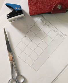 My project this weekend: Printing calendar refills for my Hermes PM Ulysse notebook! So glad I found this.