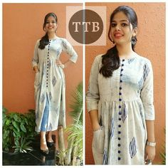 for this Tailer fit designer wear Churidar Designs, Kurta Designs Women, Dress Neck Designs, Blouse Designs, Ethnic Fashion, Indian Fashion, Indian Dresses, Indian Outfits, Casual Dresses