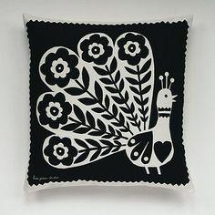 Peacock cushion