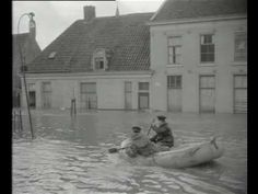 First footage of the 1953 Floods in which over 1800 people died in the Netherlands alone. Belgium lost almost 30, the UK lost over 300 and over 200 people were killed while at sea. Not to mention a 47.000 strong lifestock drowned and a poultry stock of 110.000 ... One can only imagine the panic both people and animals must have experienced!