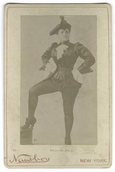Cabinet Card photograph of Pauline Hall :: Hansen Performing Arts Collection UNCG