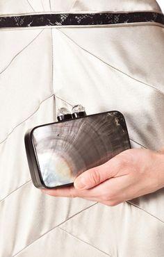 Celestina shell clutch
