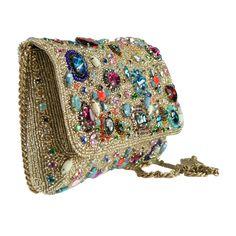 Mary Frances All That Pizazz Gold Jewel Clutch Bag Beaded Purse Handbag NEW  #MaryFrances #EveningBag