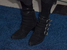 Singer Kesha, shoe detail, attends the 'Concert For Our Oceans' hosted by Seth MacFarlane benefitting Oceana at The Wallis Annenberg Center for the Performing Arts on September 28, 2015 in Beverly Hills, California.