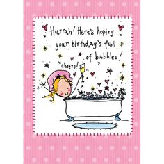 Hurrah! Here's hoping your birthday's full of bubbles! Juicy Lucy