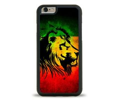 LION RASTA iPhone Case, Samsung Galaxy Case. Protective Phone Cover