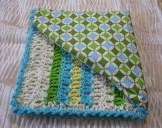 Crochet baby blanket pattern, reversible seaside colors, PDF pattern