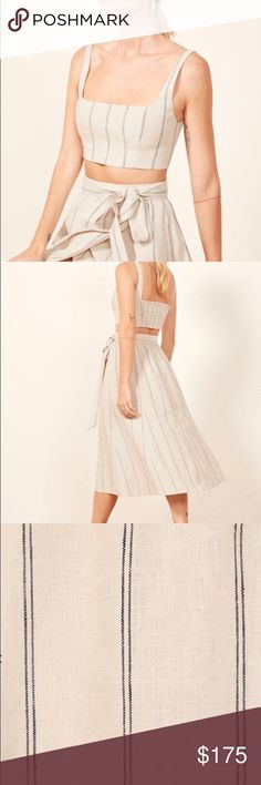 467b0975f58abe NWOT Reformation Molto Two Piece Dress Never worn! Perfect condition.  Linen. No trades