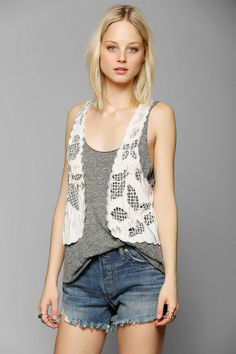 Pins And Needles Cupcake Cutout Vest #urbanoutfitters