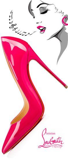 Brilliant Luxury by Emmy DE ♦ Christian Louboutin So Kate Patent Pump #louboutinworld #shoeart #pink