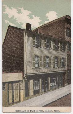 Birthplace of Paul Revere Boston Massachusetts