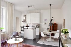 A white and grey apartment