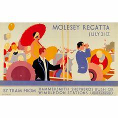 Molesey Regatta - unknown artist (1928)