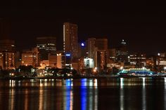 A beautiful night view of South Africa Seattle Skyline, New York Skyline, Places Ive Been, Places To Go, Durban South Africa, So Little Time, 6 Years, Cover Photos, South America