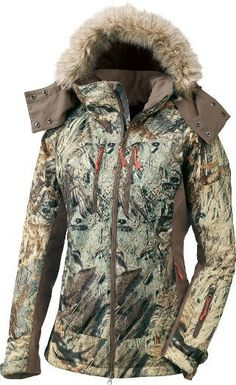 OutfitHER women's fitted hunting jacket, size XL Color: Mossy Oak Duck Blind. ttp://www.cabelas.com/product/Clothing/Womens-Clothing/Womens-Hunting-Clothing%7C/pc/104797080/c/104789880/sc/104815980/Cabelas-Womens-OutfitHER8482-Insulated-Jacket/1227472.uts?WTz_l=SBC%3BMMcat104797080%3Bcat104815980