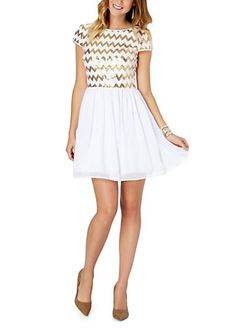 Chevron Sequined Party Dress | rue21