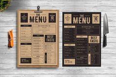Classic Food Menu by Tokosatsu on @creativemarket