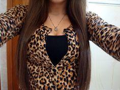 Leopard cardigan on black
