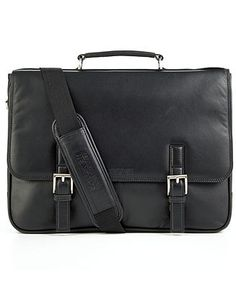 Kenneth Cole Reaction Manhattan Leather Single Gusset Laptop Brief - Bags & Backpacks - Men - Macy's