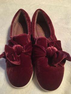 445b07d82755 Libby Edelman Caitlyn Slip-on Faux Velvet Mauve Shoe Sneakers Size 7.5M   fashion