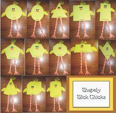 Classroom Freebies: Slick Chick Shape Packet