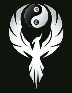 phoenix tattoo yin yang at DuckDuckGo Tatuajes Yin Yang, Yin Yang Tattoos, Tribal Tattoos, Arte Yin Yang, Yin Yang Art, Phoenix Bird Tattoos, Phoenix Tattoo Design, Phoenix Art, Dark Phoenix