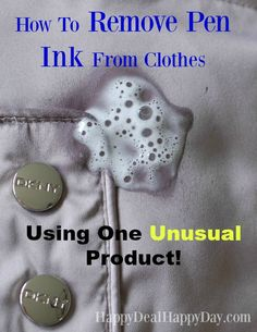 how to remove ink stains from clothing with no effort laundry secrets pinterest removing. Black Bedroom Furniture Sets. Home Design Ideas