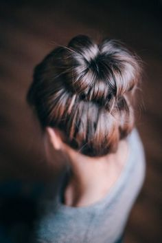 You know you're a dancer when your hair is always in a bun.