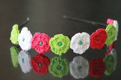 Mini flowers headband