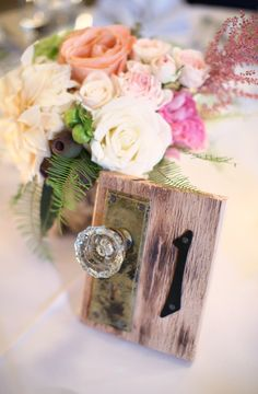 Table Numbers | See the wedding:  http://www.StyleMePretty.com/2014/03/19/outdoor-wedding-at-merion-tribute-house/ on #SMP |  Photography: Kay English