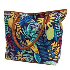 Jungle Bag - Tote Shopping - Blue / Teal | Hip Angels Beautiful Jungle Backpack with two external pockets for those small items and two internal pockets where one comes with a zipper. This backpack is very comfy and its good enough to carry all the school supplies.  #Scarves_wholesale #Bags_wholesale #Jungle_bags #Flowersbags #Backpackwholesale #Big_backpack